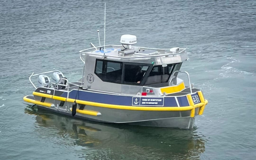 TOWN OF HEMPSTEAD RECEIVES FIRST VESSEL UNDER LICENSE AGREEMENT BETWEEN SAFE BOATS/STORMER